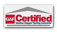 GAF Certified Weather Stopper Roofing Logo