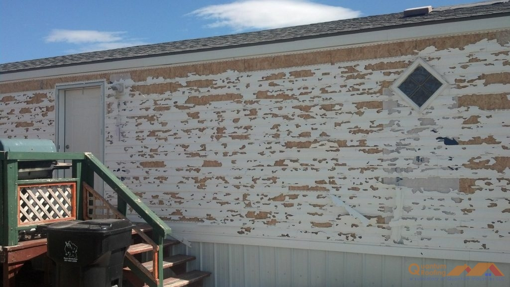 Hail Damage on a Home With Siding